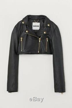 NEW moschino x hm cropped leather Jacket