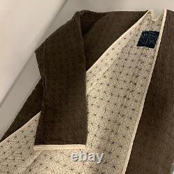 NWT VISVIM Embroidery ICT LIMITED Sanjuro Kimono Denim Long Coat Brown, Sz 3 L