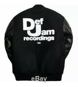 New Kith x Golden Bear x Def Jam Varsity Jacket Black XXL 2XL