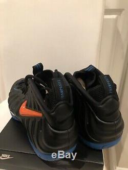 Nike Air Foamposite Pro Knicks Black Battle Blue/Orange 624041-010 BRAND NEW
