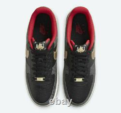 Nike Air Force 1'07 LX King & Queen Black White DJ5184-001 Men's Multi Size