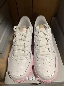 Nike Air Force 1 07 White/Pink Foam CV7663-100 DS Size 5.5Y 7 women