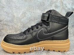 Nike Air Force 1 One High GTX GoreTex Boot Black Gum Brown All CT2815-001 Size 8