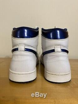 Nike Air Jordan 1 High OG Metallic Navy White 2016 Shoe Mens Size 12 555088-106