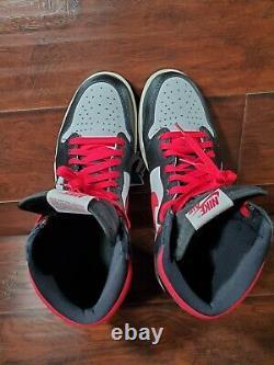 Nike Air Jordan 1 Men's Size 13 Retro High Black Gym Red (555088-061) EXCELLENT
