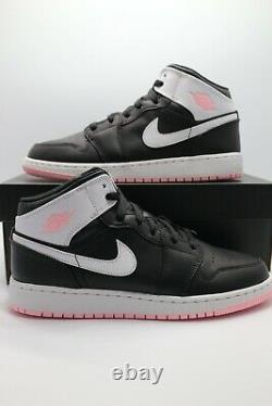 Nike Air Jordan 1 Mid Arctic Pink Black (GS) 555112-061 Gradeschool Sizes 3-7Y