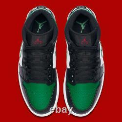 Nike Air Jordan 1 Mid Basketball Retro Shoes Pine Green 554724-067 Size 11