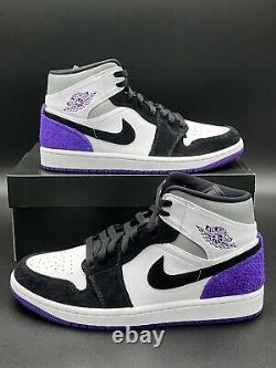 Nike Air Jordan 1 Mid SE Retro Varsity Court Purple 852542-105 Men's Size NEW