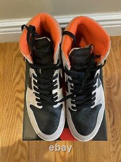 Nike Air Jordan 1 Retro High OG Neutral Grey Hyper Crimson 555088-018 Size 10.5