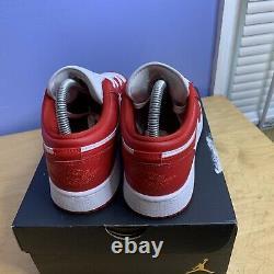 Nike Air Jordan 1 Retro Low Gym Red White Size 5.5Y GS 553560-611