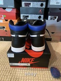 Nike Air Jordan 1 Royal Toe Retro High OG Black Blue 555088-041 Mens Size 13