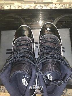 Nike Air Jordan 11 Retro (378037-003) Men's Shoes Black/Concord White, 12 US