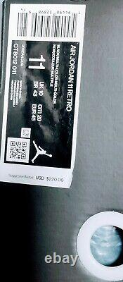 Nike Air Jordan 23 Retro 11 Jubilee 25th Anniversary Men's Size 11 DS New Black