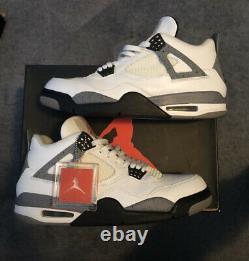 Nike Air Jordan 4 IV Retro OG White Cement 2012 Size 11 Rare black 3 toro used