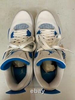 Nike Air Jordan 4 IV Retro White Military Blue Grey 2012 OG 308497-105 Size 11