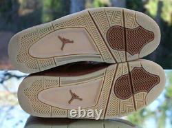 Nike Air Jordan 4 Retro Premium Wheat Mens Size 8 Ginger Gum 819139-205