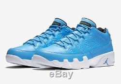 Nike Air Jordan 9 Retro Low PANTONE UNIVERSITY BLUE WHITE BLACK 832822-401 Men's