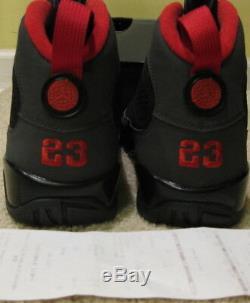 Nike Air Jordan IX 9 Retro 2010 Black Dark Charcoal Varsity Red DS Men 10.5 44.5