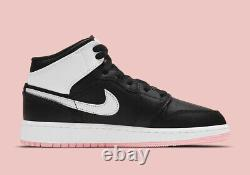 Nike Air Jordan Mid 1 (GS) Artic Pink Black White 555112-061 Youth/Women's NEW