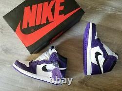 Nike Air Jordan Retro 1 HIGH OG 2020 Court Purple 2.0 White 555088-500 Men & GS