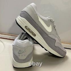 Nike Air Max 1 Edition Shoes AH8145 011 White Vast Grey Sail Wolf Grey Sz 12