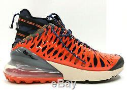 Nike Air Max 270 ISPA Men's Black Blue Orange Training Protect BQ1918-400 NIB