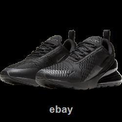 Nike Air Max 270 Triple Black Blackout All AH8050-005 sz 10 Running Retro Men