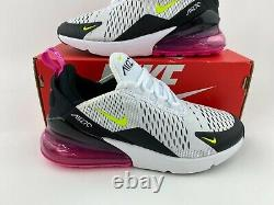 Nike Air Max 270 White Fuchsia Women's Sneakers Shoes Black Pink 943345 102