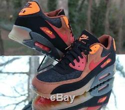 Nike Air Max 90 HW QS Ice Halloween Mens Size 14 Black Cognac 717942-006