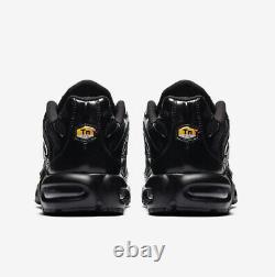 Nike Air Max Plus Triple Black Casual Shoes (Men's Sizes 8-13) 604133 050