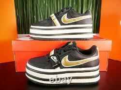 Nike Air Vandal 2K 2X Black Gold White Womens Platform Shoes AO2868-002 Size 7.5