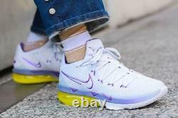 Nike LeBron 17 XVII Low Lakers White Purple Shoes James Gym CD5007-102 Size 7