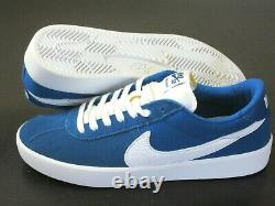 Nike SB Bruin React Mens Suede Skate Shoes Team Royal Blue White Size 10 NEW