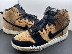 Nike SB Dunk High PRM Cork Mens Size 10 Premuim Skateboard 313171-026