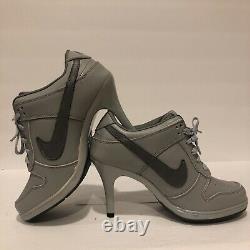 Nike SB Dunk Swoosh Womens Heel Sneakers Gray On Grey 305050-181 Size 8.5 RARE