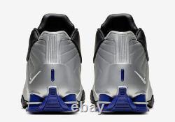 Nike Shox BB4 OG Retro Silver Purple Vince Carter Shoes AT7843-001 Size 13