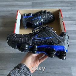 Nike Shox Tl Triple Black Blue Trainers Shoes Size Uk6 Us7 Eur40 Cm28 Av3595-007