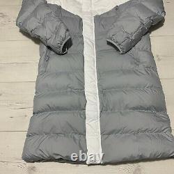 Nike Sportswear Down Fill Long Windrunner Mens White Coat Parka Jacket Medium