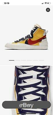 Nike X Sacai Blazer MID Snow Beach Size 12 Deadstock Ds 100% Authentic Sb Dunk