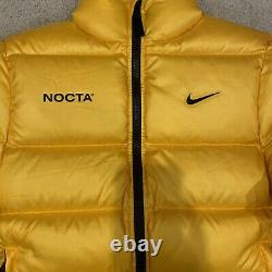 Nike x Drake Nocta Puffer Jacket Yellow Mens Size M DA3997-739 OVO Puff