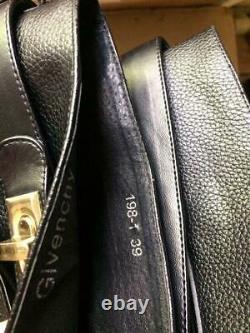 Original Givenchy Black Leather Shark Lock Boots Size 39 Kim Kardashian Style