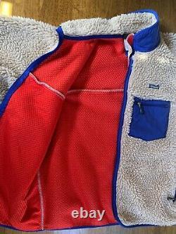 Patagonia Vintage Retro X Deep Pile Fleece Jacket RARE Oatmeal Mens XL