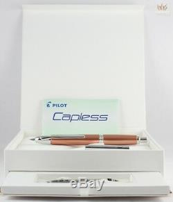Pilot Limited Edition Capless 2014 Metallic Copper Fountain Pen- Vanishing Point