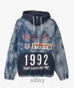 Polo Ralph Lauren Indigo Stadium Popover Jacket Size XL