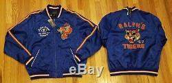 Polo Ralph Lauren Men's Satin Tigers Yale Varsity Jacket Blue Size Large $598