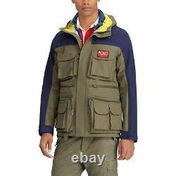Polo Ralph Lauren Performance Men's Olive/Navy Hi Tech Anorak Hooded Jacket $598