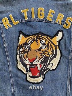 Polo Ralph Lauren RL Tigers Varsity P Patch Denim Jean Jacket New WithTags Mens L