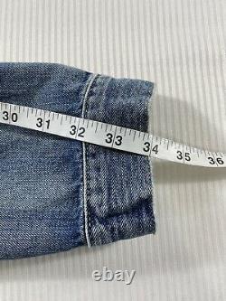 Polo Ralph Lauren Sportsman Trucker Patch Denim Jean Jacket New WithTags Mens XXL