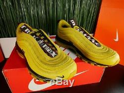 RARE Nike Air Max 97 Mens Shoes Bright Citron Yellow AV8368 700 Size 10.5