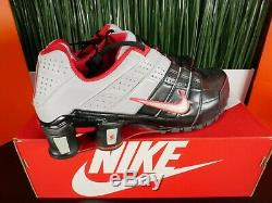 RARE Nike Shox NZ 2010 Leather Mens Shoes Red Black Grey 365951 016 Size 10.5-11